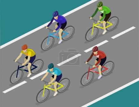 cyclists in road bicycle racing