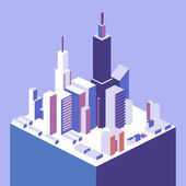 Isometric concept city