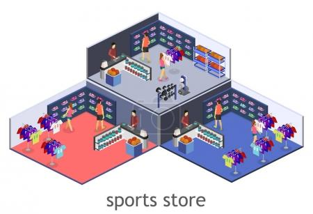 interior goods for the sports shop.