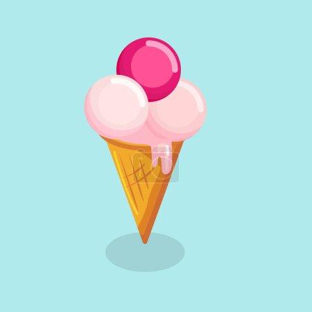 isolated  of ice cream cones.