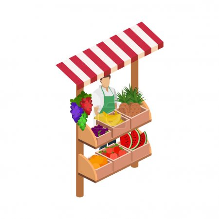 concept  fruit stand.