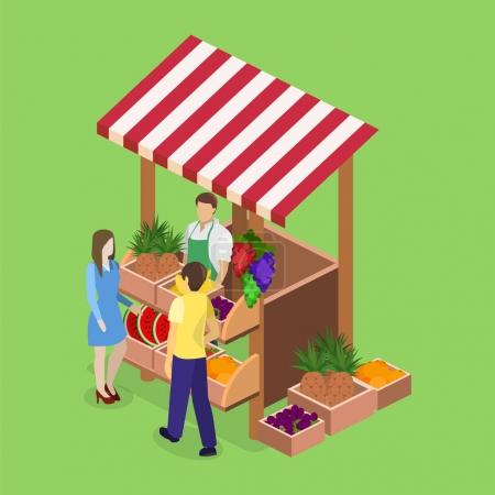 isolated concept fruit stand.