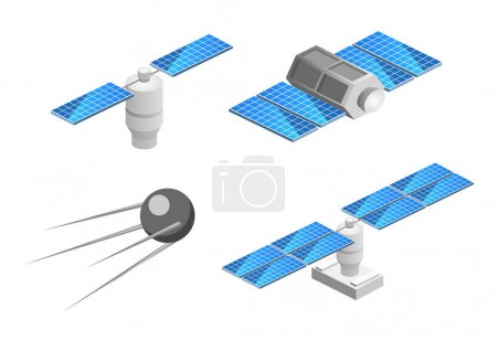 isolated space GPS satellite.