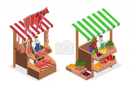 isolated concept Butcher shop.