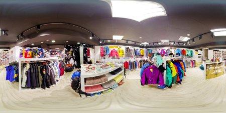 Photo pour Photographie panoramique de l'intérieur du vêtement de stocker 360 à 180 degrés - image libre de droit