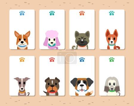 Vector dogs card