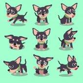 Cartoon character chihuahua dog poses