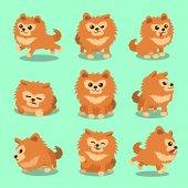 Cartoon character pomeranian dog poses