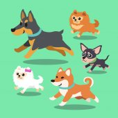 Cartoon dogs running collection