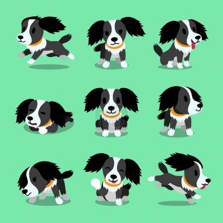 Illustration pour Caractère de dessin animé chien pose pour la conception . - image libre de droit