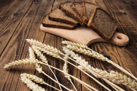 corn bread cut into pieces on a wooden background