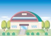 school landscape - gymnasium  image