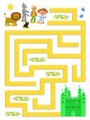 Wizard of OZ labyrinth help Dorothy to find the way