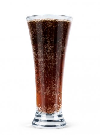 Soda in a glass with clipping path