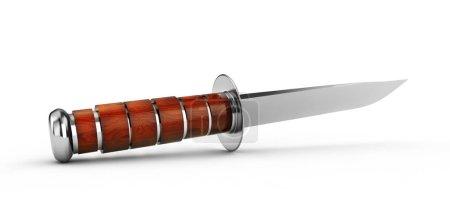 Knife army blade sharp danger. 3D rendering