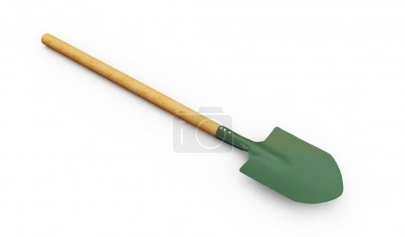 realistic 3d render of shovel
