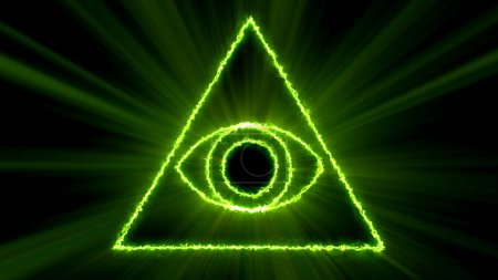 Photo pour Fond abstrait avec Eye of Providence. Rendu 3d - image libre de droit