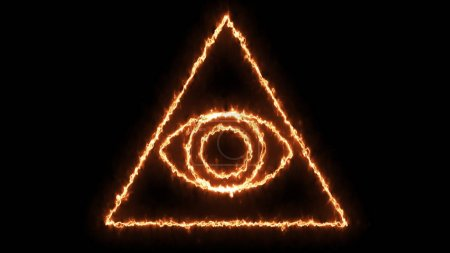Photo pour Abstrait avec le œil de la Providence. rendu 3D - image libre de droit