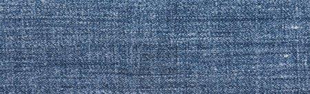 Photo pour Tissu en denim bleu, bannière, espace de reproduction - image libre de droit