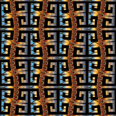 Ethnic style meander seamless pattern. Vector greek key