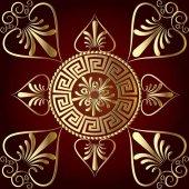 Vector mandala Ancient greek key meander circle pattern