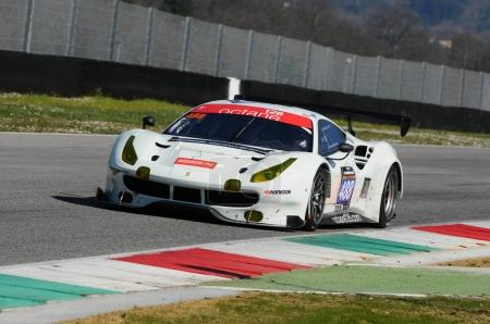 12 ore Hankook Mugello 18 March 2017: #488 Octane 126, Ferrari 488 GT3: Bjorn Grossmann, Fabio Leimer on Mugello Circuit, Italy.
