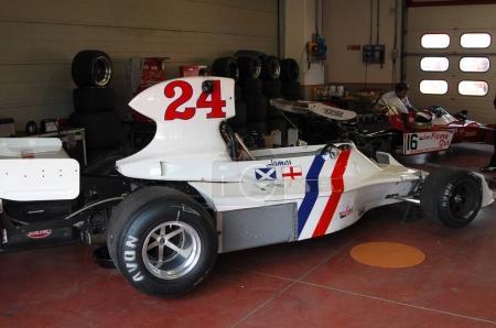 Mugello Circuit 1 April 2007: Unknown run on Classic F1 Car 1974 Hesketh 308 ex James Hunt on Mugello Circuit in Italy during Mugello Historic Festival.