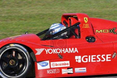 MUGELLO, IT, OCTOBER 2017, Historic Ferrari 333SP at the Mugello Circuit during Finali Mondiali Ferrari 2017. italy