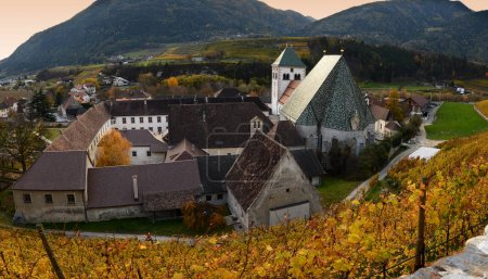1 November 2017: The Augustinian abbey of Novacella (Augustiner-Chorherrenstift Neustift in German), in the municipality of Varna, in the immediate vicinity of Bressanone, (Bolzano). Is one of the most prestigious abbeys of norther Italy.