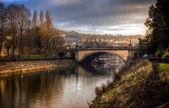 River Avon and North parade bridge in Bath