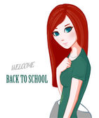 Red-haired girl School