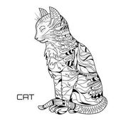 Cat Design Zentangle