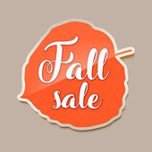 Fall sale banner with red fall aspen tree leaf