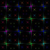 The pattern of the color crosses