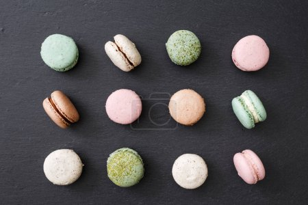 pattern with colorful macaroons