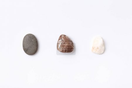 Three colorful stones