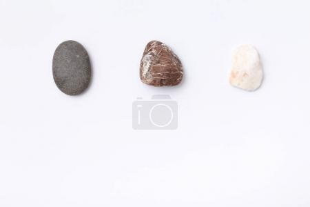 Three colorful stones