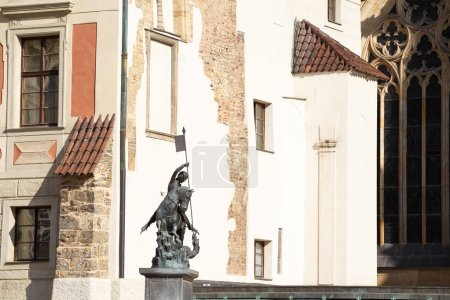Statue of St George and fountain