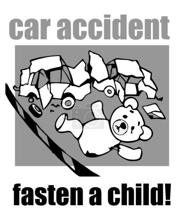fasten a child, car accident