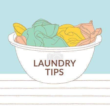 Vector laundry illustration