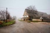 Farm house on a foggy winter day. Guntersdorf, Lower Austria.