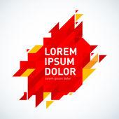 design of red geometric logo