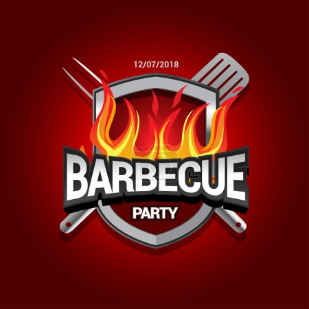 BBQ party template menu design.
