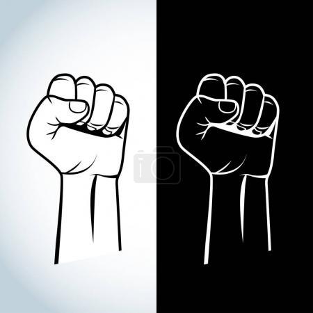 protest, fist illustration