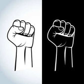protest fist illustration