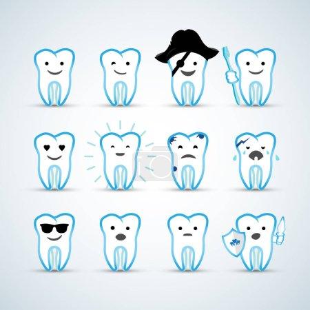 teeth icons set