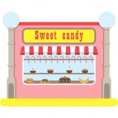 Sweets Shop Vector Illustration