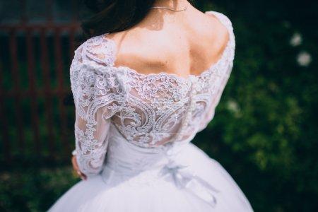 girl in white wedding dress