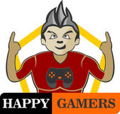 logo boy happy gamer