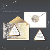 New Year party invitations setCards have enough copy space Vector format
